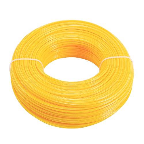 Hamimelon 2.4mm/100M Mähfaden Trimmerfaden 5 Kant für Motorsensen und Freischneider gelb