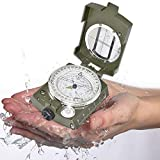 ZHENGTU Professional Multifunction Military Army Metal Sighting High Accuracy Waterproof Compass for Direction (Green)