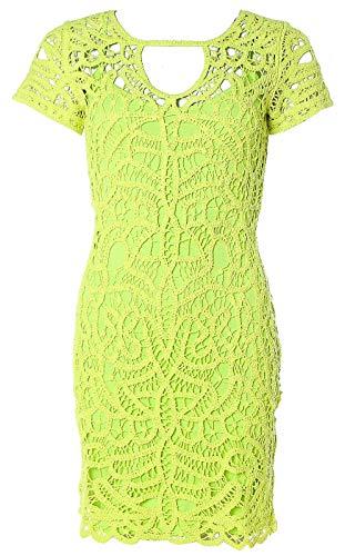 Heine Damen Spitzenkleid Kleid Spitze mit Unterkleid (Kiwi, 36)