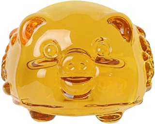 Crystal Golden Gold Pig,2019 Chinese Zodiac Pig Year Large Size Golden Resin Collectible Figurines Table Decor Statue