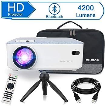 FANGOR 4200-Lumens LCD Portable Projector