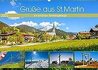 Gruesse aus St.Martin (Wandkalender 2022 DIN A2 quer): Impressionen und vier Jahreszeiten aus St.Martin am Tennengebirge (Monatskalender, 14 Seiten )