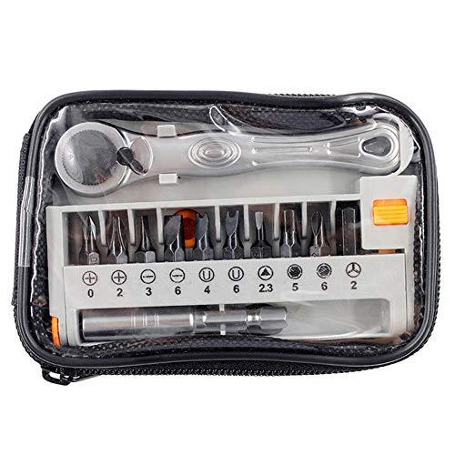 Classicoco Mini-ratelsleutel, reparatie, accessoires, schroevendraaier, 12 stuks/set mini ratelsleutels rolvorksleutel