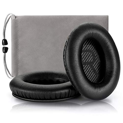 Headphones Replacement Ear Pads,for Bose Quietcomfort QC15 QC25 QC35 35 ii (Black)