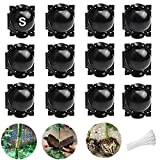 Plant Root Growing Box,Reusable Damage Free High-Pressure Propagation Ball Botany Rooting Grafting Device Controller Box for Plant Fast Propagation Air-Layering Pod (12PCS-S)