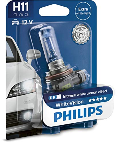 Philips WhiteVision Effetto Xenon H11 Lampada Fari 12362WHVB1, Blister Singolo