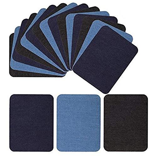 yuezhi patch stickers 5 kleuren denim patch strijken patch ijzer patch denim patch jeans reparatieset geschikt voor jas rugzak jeans kleding hoed 18 stuks.