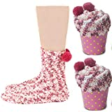 JARSEEN 2 Caja Regalo Navidad Calcetines Dia de san Valentin Super Suaves Cómodos Calentar Mujer DIY (2 Rosa, EU 36-42)