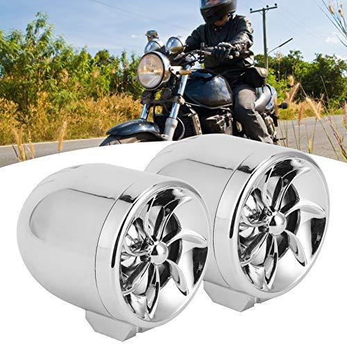 Reproductor de MP3, Motor Radio FM Utv Barra de sonido Altavoces de motocicleta Altavoz de motocicleta Systerm antirrobo de motocicleta para motocicleta(Silver)