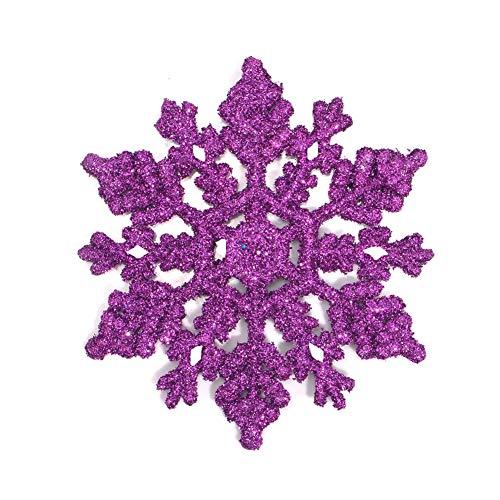 Naisicatar 12st Schneeflocke Weihnachtsbaum Anhänger Weihnachten Anhänger Craft Weihnachtsbaum Dekor Weihnachten Geschenke Ornamente Zuhause-Party-Ornamente Lila 10cm Weihnachten Stil