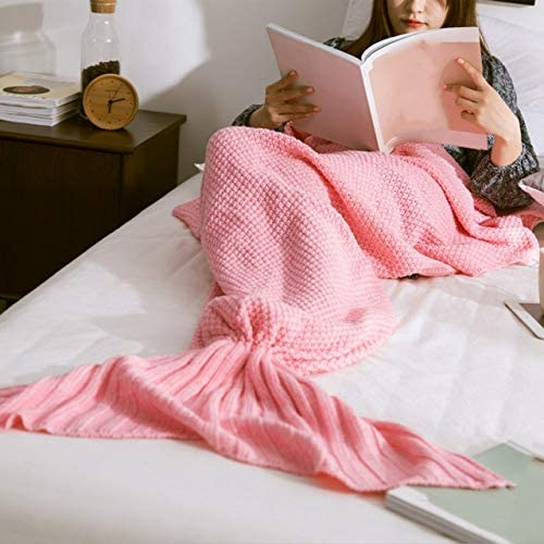 Mermaid Gorgeous Tail Blanket Handmade Knitted for Bag Residence Sleeping Phoenix Mall