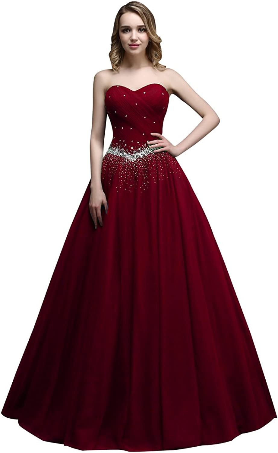 Nymph Women's Sweetheart Beading Tulle Party Prom Dresses