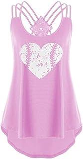 comprar comparacion MOMOXI Chaleco para Mujer, Camiseta de Gran tamaño para Mujer, con Cuello Redondo, Estampado y teñido.