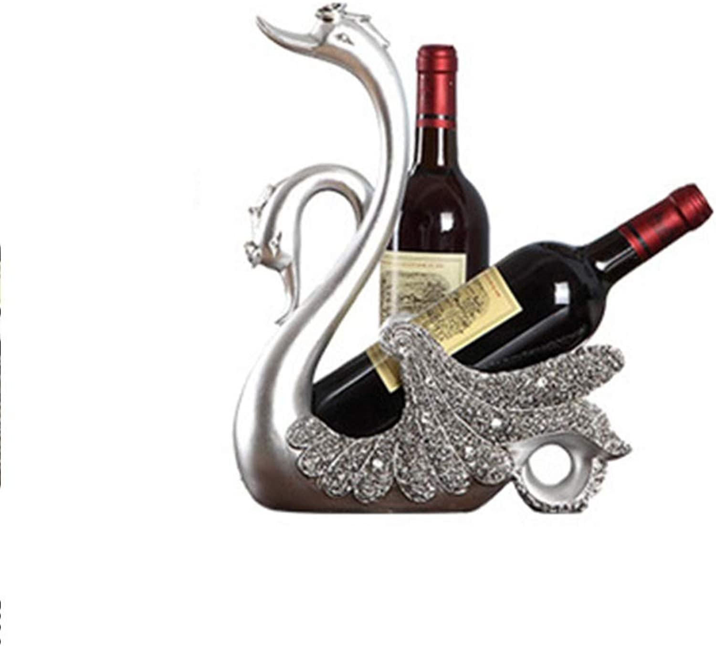 venta con descuento Estante para vino Decoración del del del hogar Simple Moda Romántica Pequeo estante para vino Hogar Creativo Exhibición de botellas de vino Decoración del hogar ( Color   plata , Talla   261235.5CM )  precio mas barato