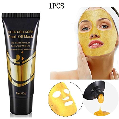 KGIDK 24K Gold Peel-Off Mask, Deep Clean Blackhead Remover Facial Mask, Whitening Anti-Ride Skin Care Lifting Mask for All Skin Types (1PCS)