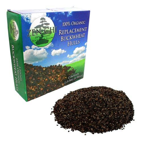 Cascos de repuesto de almohada de trigo sarraceno: Zen Chi 100% orgánicas de alforfón, bolsa de recambio de 2 libras