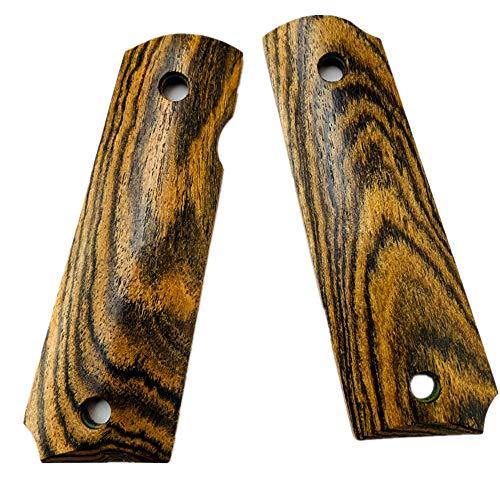 Aibote 1911 Pistolengriffe Bocote Holz benutzerdefinierte DIY EDC Pistolen Griffe voller Größe passt die meisten Commander, Standard & Regierung 1911 Modelle