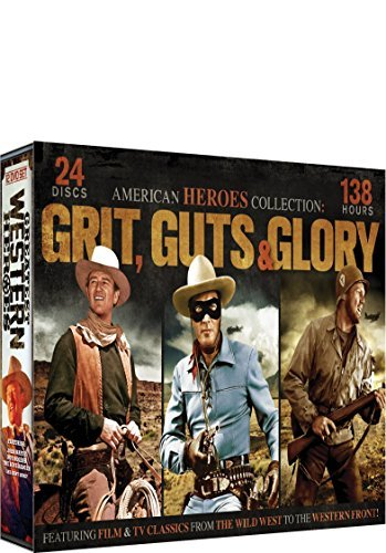 Heroes Collection: Grit, Guts & Glory 24 DVD Set: McLintock! - Angel and the Badman - The Lone Ranger - Gung Ho! - The
