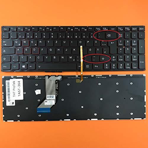 DEUTSCHE - Tastatur Keyboard mit Beleuchtung, Ohne Rahmen Lenovo IdeaPad Y700-17ISK