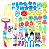 DOITEM Dough Tools, Set of 136 Pcs Smart Clay Dough Tools Cortadores Formas de Animales Moldes de expresión, Colores Surtidos