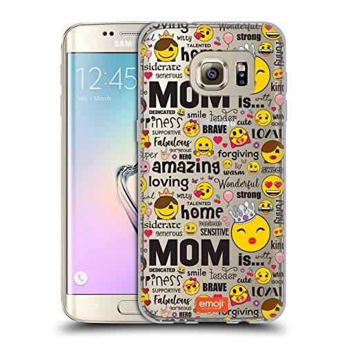 Head Case Designs Oficial Emoji® Calidad mamá Estuches de celebración Carcasa de Gel de Silicona Compatible con Samsung Galaxy S7 Edge