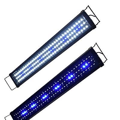 Lumiereholic Aquarium Beleuchtung LED Fische Tank Beleuchtung Aufsetzleuchte Lampe 30-200cm (75cm)