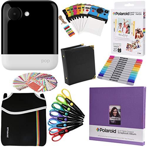 Polaroid Pop 2.0 2 en 1 Cámara Instantánea (Blanco) Paquete Regalo con Papel Fotográfico ZINK (20 hojas) y mas accesorios.