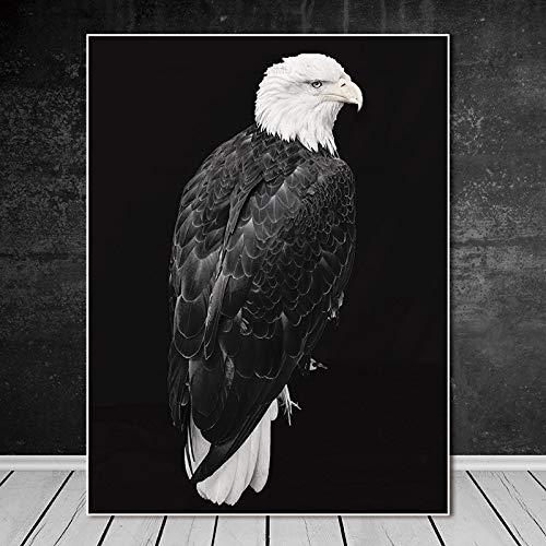 SADHAF Modern zwart-wit Animal Posters en Prints op het Canvas Art Design Woonkamer Thuis 50x70cm (no frame) A3