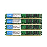 TECMIYO DDR3 Ram 16GB Kit 4x4GB 1600MHz PC3-12800U 240 Pin UDIMM Desktop, Non ECC Unbuffered 1.5V CL11 Dual Rank Desktop Memory Ram Module