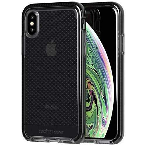 Tech21 Evo Check Schutzhülle für Apple iPhone Xs Max - Rauchig/Schwarz