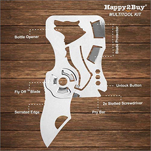 Happy2Buy The Hyper Light Wallet Knife- Outdoor Performance Inspired for Every Day Carry
