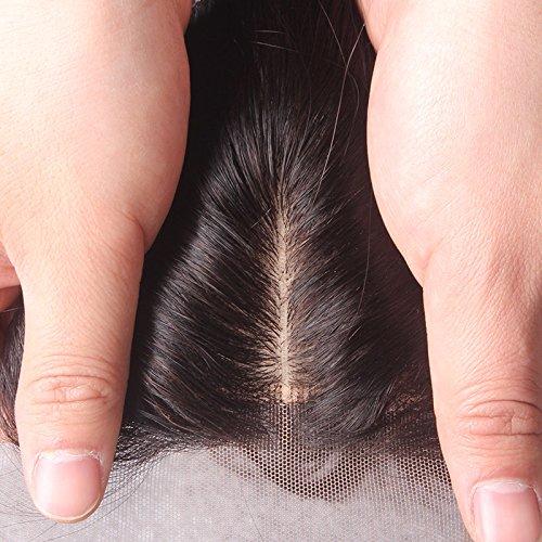 Brazilian Silk Base Closure - Straight Hair (14 inch, freestyle part)