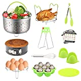 14 PCS Instant Pot Accessories Set, Pressure Cooker Accessories Set Compatible with Instant Pot 5,6,8 Qt-Steamer Basket, Springform Pan, Egg Steamer Rack, Egg Bites Mold, Silicon Oven Mitts and More