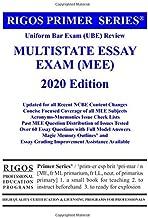 Rigos Primer Series Uniform Bar Exam (Ube) Review Multistate Essay Exam (Mee) 2018 (Volume 3)