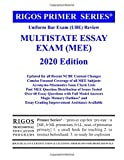 Rigos Primer Series Uniform Bar Exam (Ube) Review Multistate Essay Exam (Mee) 2018 (Volume 3)
