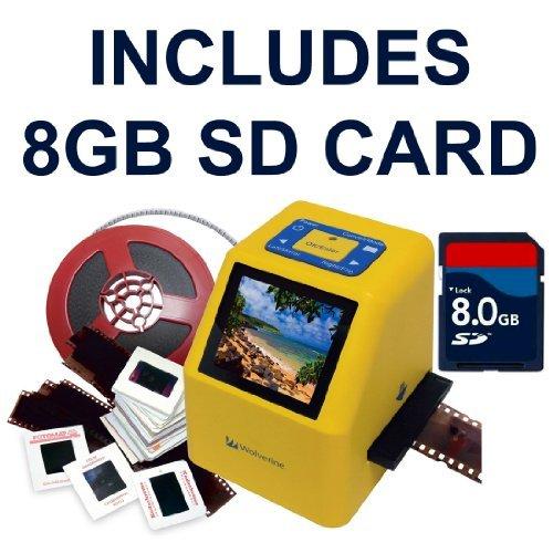 Wolverine 20MP 4-in-1 Film to Digital Converter (F2DSUPER) - Bundle Includes 8GB SD Card
