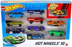 Hot Wheels Coffret 10 véhicules, jouet pour enfant de petites voitures miniatures