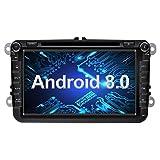 Ohok 2 DIN Android 8.0 Autoradio 8 Pulgadas Oreo Octa Core 4GB Ram 32GB ROM GPS Navegador Radio para VW Volkswagen Seat Skoda Golf Polo Jetta Passat Touran