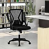 ModernLuxe Mesh Office Chair Ergonomic Desk Chair Swivel Computer Chair Flip Up Arms