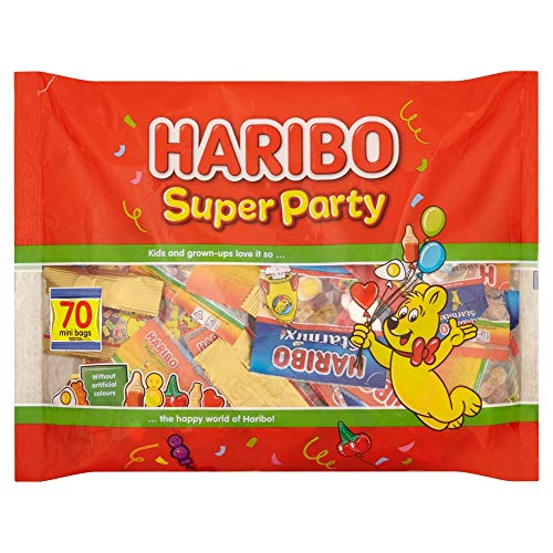Haribo Super Party Variedad de caramelos, 70 mini bolsas