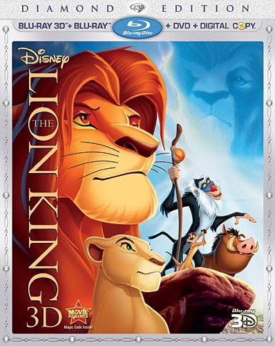 The Lion King (Four-Disc Diamond Edition Blu-ray 3D / Blu-ray / DVD / Digital Copy)