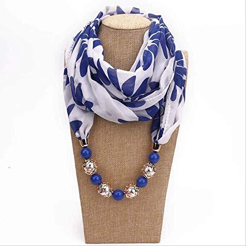 YMKXXB Schal Solide Schmuck Halskette Anhänger Schal Kopftücher Frauen Foulard Zubehör Hijab Stores13