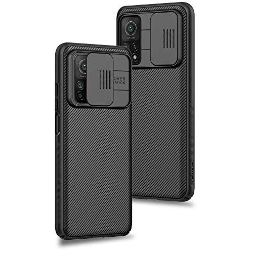 Funda para Xiaomi Mi 10T Pro/Mi 10T, Protección de la cámara Carcasa Cubierta de cámara Deslizante Proteger Ultra-Delgado Híbrida PC Anti-Choque Anti-arañazos - Negro