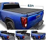 Tyger Auto Black Top T3 Soft Tri-Fold Truck Tonneau Cover for 2019-2020 Chevy Silverado/GMC Sierra 1500 New Body Style Fleetside 6.5' Bed TG-BC3C1054