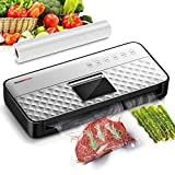 Vacuum Sealer Machine, Food Saver Compact Food Sealer with Automatic Bag Detection & Automatic Vacuum Air Sealing System, 80Kpa Strong Suction, with Full Starter Kit