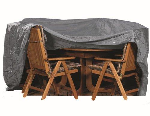 542310 Sitzgruppenhülle anthrazit Polyestergewebe Oxford 600 D / L 350 x B 250 x H 96 cm oval