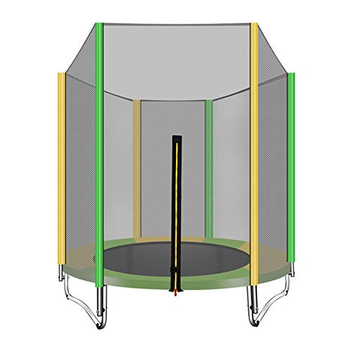 Foldable Kids Trampoline with Increased Protection Net And Frame Cover, Trampoline for Children Jumping Training Indoor Outdoor Fitness, 5FT Weight Up To 200KG