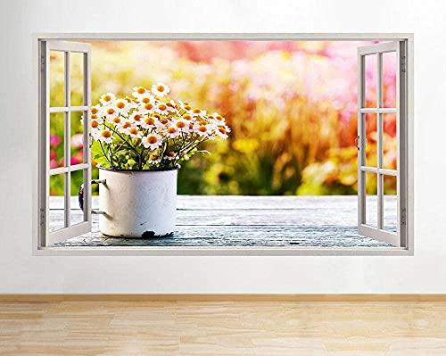 Pegatinas de pared Flores blancas Flores Naturaleza Cocina Calcomanía Póster Art Vin B058-3D - Poster-50x70cm