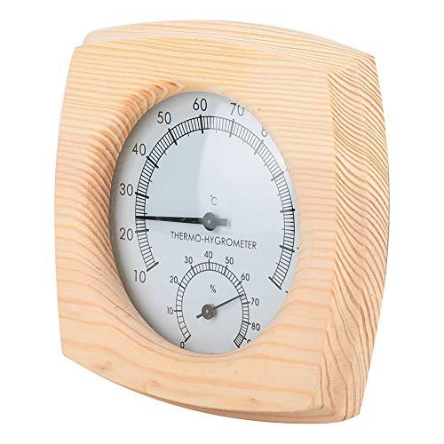 Jinxuny digitale hygrometer binnenthermometer, luchtvochtigheidsmeter kamerthermometer, ingebouwde klok en tijdweergave, nauwkeurige temperatuurvochtigheidsmeter voor thuis, kantoor, kas