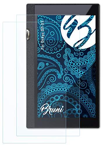 Bruni Schutzfolie kompatibel mit Onkyo DP-X1 Folie, glasklare Bildschirmschutzfolie (2X)